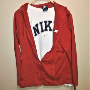 Nike zipup hoodie w/ Nike long sleeve shirt bundle
